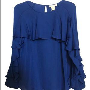 NWT Catherine Maladrino black silk blouse